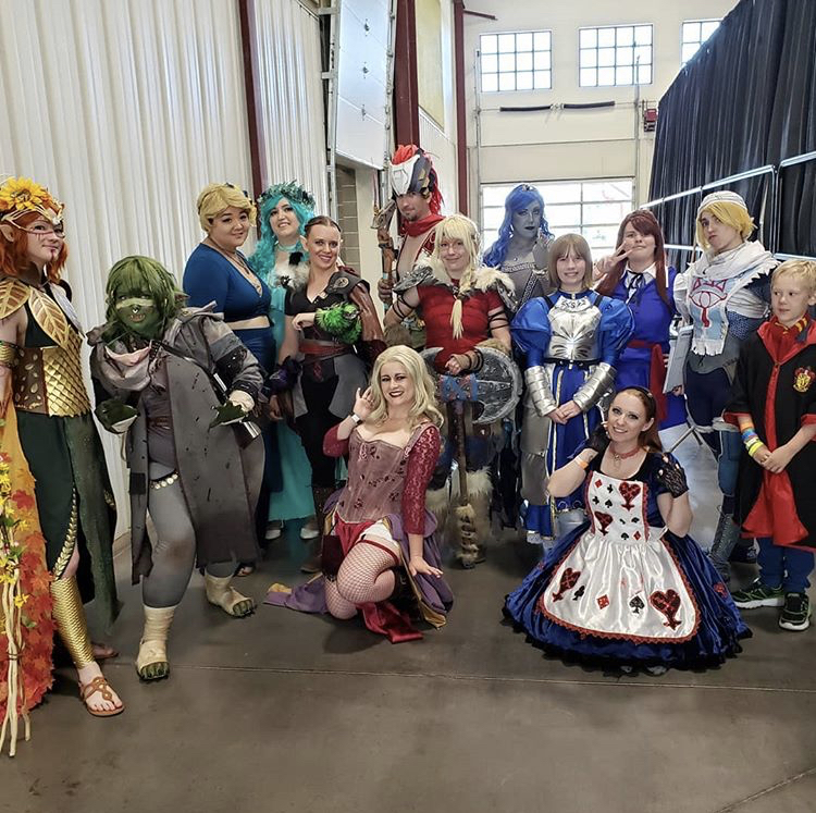 Cosplay contestants for Cosplay Contest at Wizarding Dayz in Logan. Photo courtesy of IG@silverfyrestudio and @QEProps.